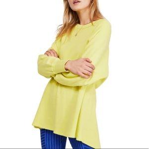 We The Free Yellow Amelia Oversized Thermal Shirt